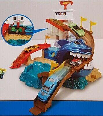 Hot Wheels Hai Attacke Spielset mit Farbwechsel inkl. 18 Die