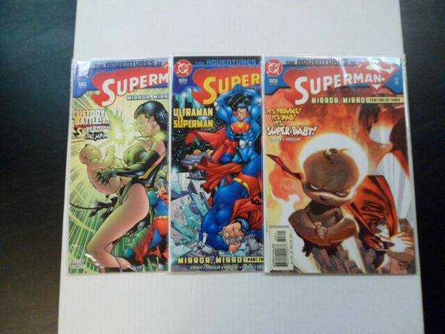 2002 Adventures of Superman MIRROR, MIRROR Set of 3 Comics (603-604-605) VF/NM!!