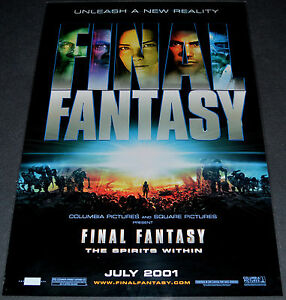 Final Fantasy The Spirits Within 2001 Orig Ds Adv 27x40 Movie