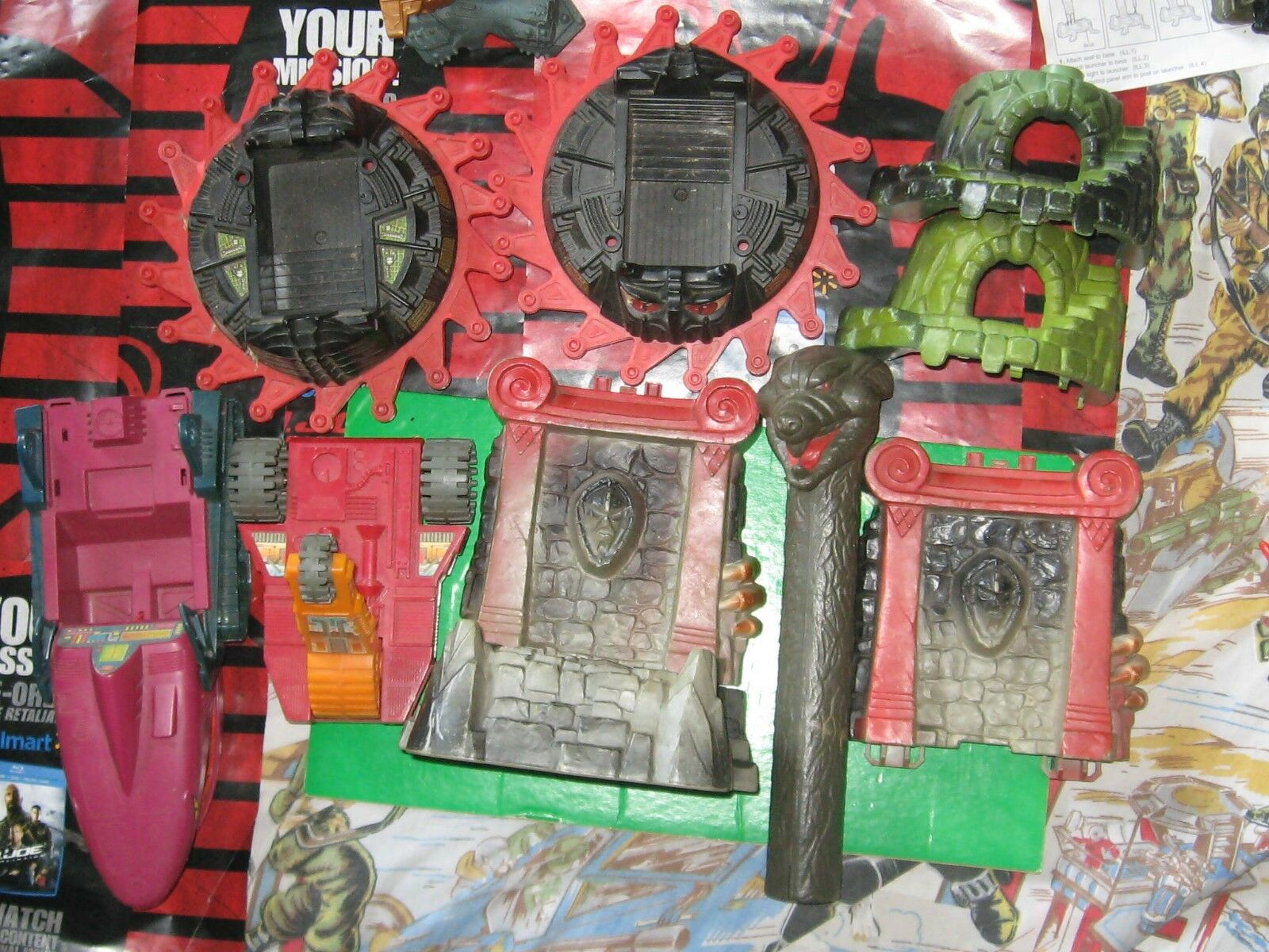 Masters Of The Universe MOTU Vintage Used Vehicle Lot For Parts Snake Mountain
