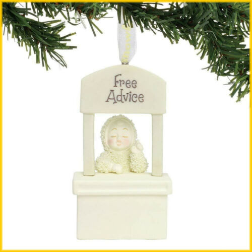 Snowbabies Classic With Free Advice Stand Porcelain Christmas Ornament 6001879