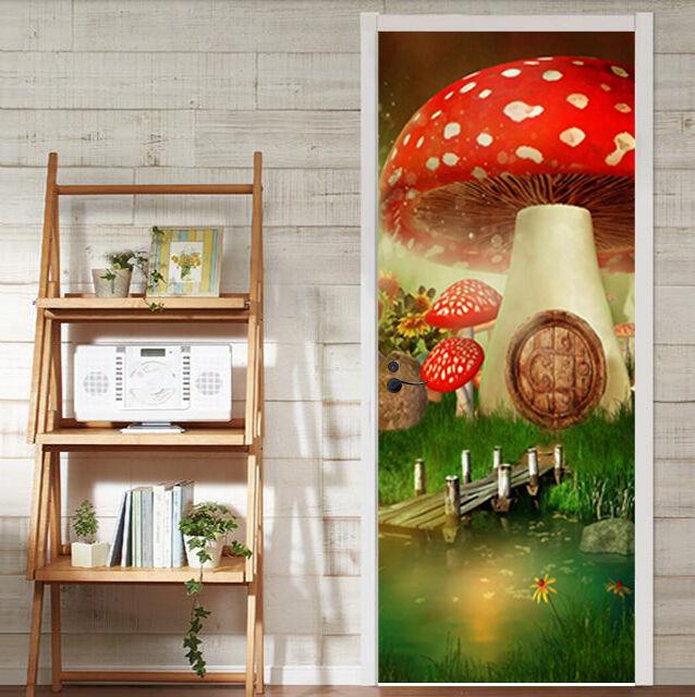 3D Pilze 84 Tür Wandmalerei Wandaufkleber Aufkleber AJ WALLPAPER WALLPAPER WALLPAPER DE Kyra   Creative    Glücklicher Startpunkt     41967a