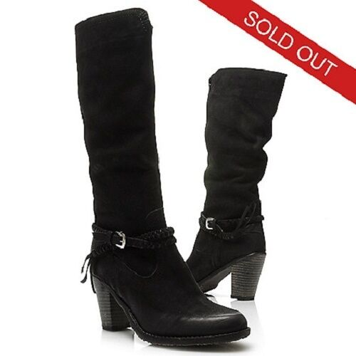 NEW MATISSE BRAVE BRAIDED BUCKLE DETAILED KNEE HIGH LEATHER BLACK BOOTS SIZE 10