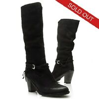 Matisse Brave Braided Buckle Detailed Knee High Leather Black Boots Size 10