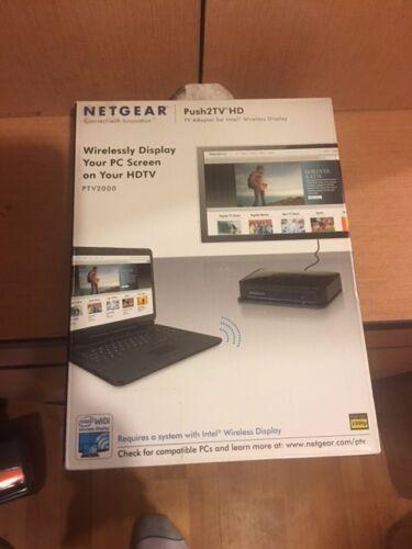 NETGEAR Push2TV HD-TV Adapter for Intel Wireless Display PTV2000 Open Box