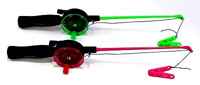 Childs Childrens Crab Rod /& Line in Pink or Green Peg NO HOOKS Sea Fishing Set