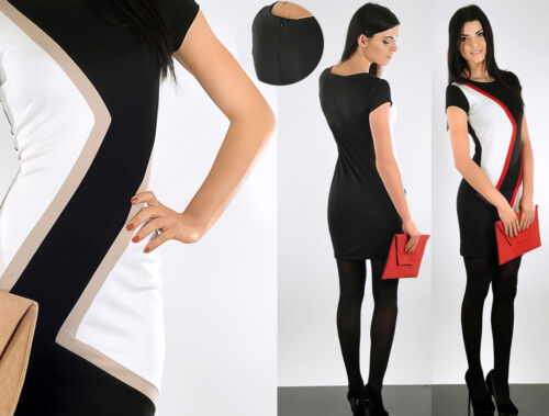Unique /& Graceful Cocktail Women/'s Dress Zipper  Tunic Office Size 8-16 FA105
