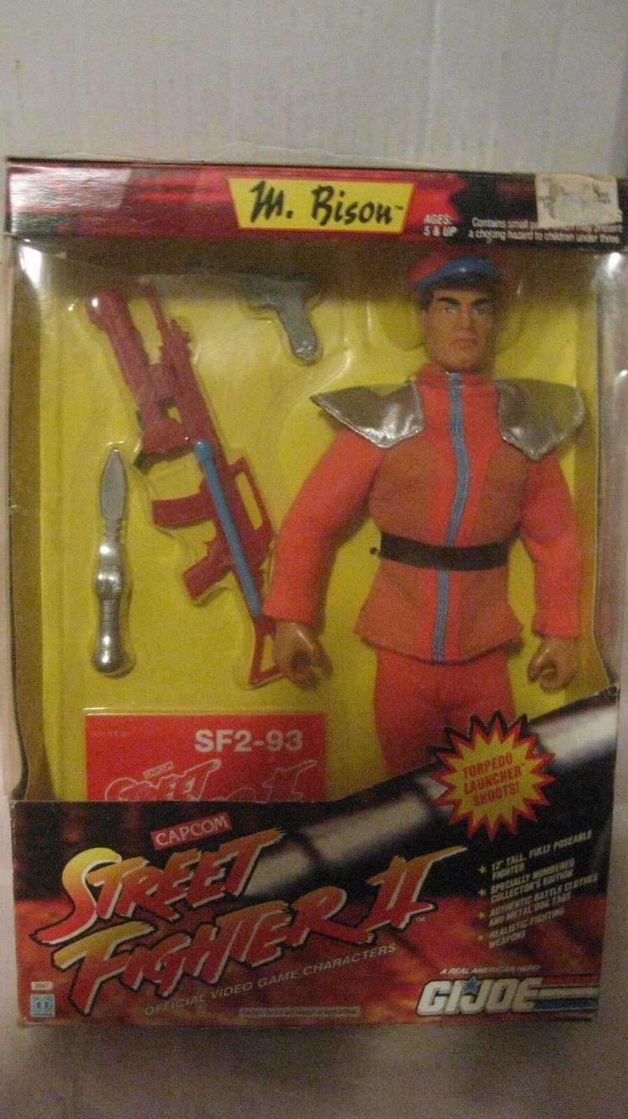 Street Fighter 2 Mr. Bison G.I. Joe Video Game Characters By Capcom 1993 NEW t58