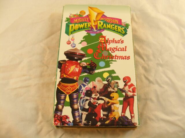 Power Rangers Christmas Tree.Mighty Morphin Power Rangers Alphas Magical Christmas Vhs