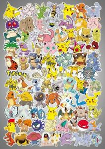 80pc-No-repeat-Pokemon-Stickers-POKEMON-GO-Pikachu-Luggage-Decal-Ornament-Mark