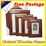 4x6 5x7 6x8 8x10 A4 Timber Wooden Document Certificate Photo Picture Frame
