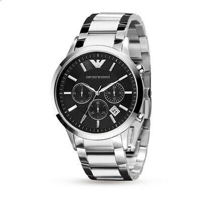 871bb0b6b2 Emporio Armani Classic AR2434 43 mm Black Case Silver Bracelet Wristwatch  for.