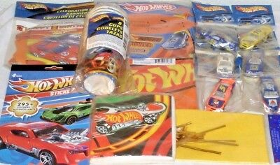 60 Hot Wheels Car Dot Stickers Kid Party Goody Loot Bag Filler Favor Supply