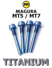 MAGURA: 4 brake pads axles in Titanium for MT5/MT7, 43% lighter! BLUE anodised !