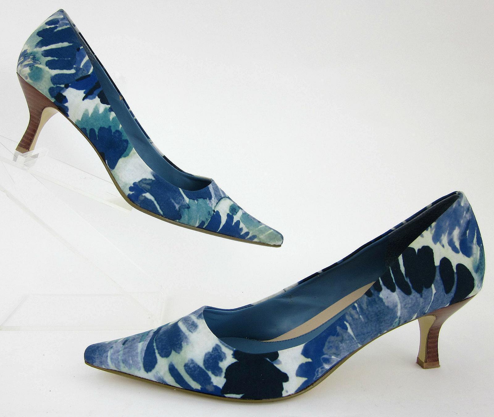 Bandolino 'Cheetah' Point Toe Pumps Fabric bluee Mosaic Wave Sz 9M