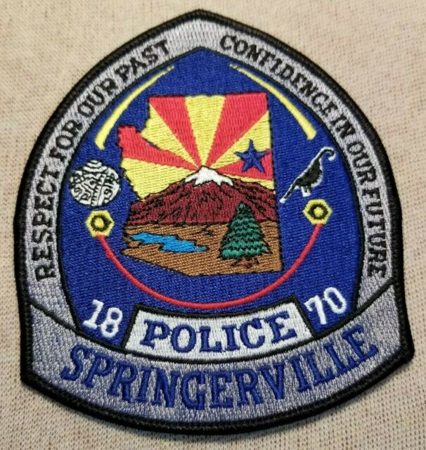 AZ Springerville Arizona Police Patch