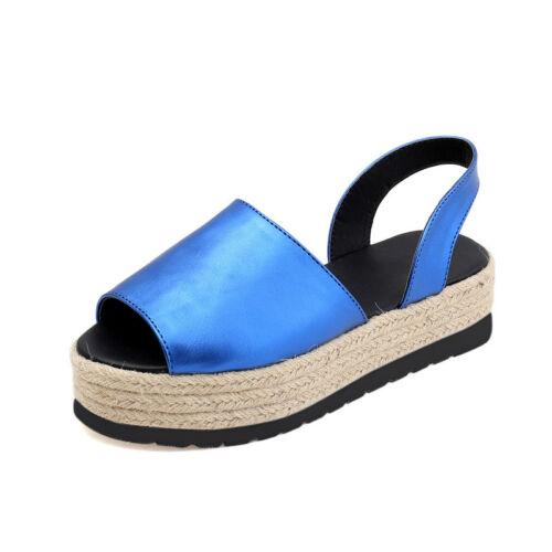 Women Sandals Platform Slingback Ladies Summer Shoes Slip On Open Toe Shoes NEW