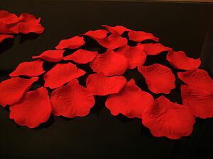 100 Rosenblätter dunkelrot Rosenblüten Valentinstag Hochzeit Streudeko