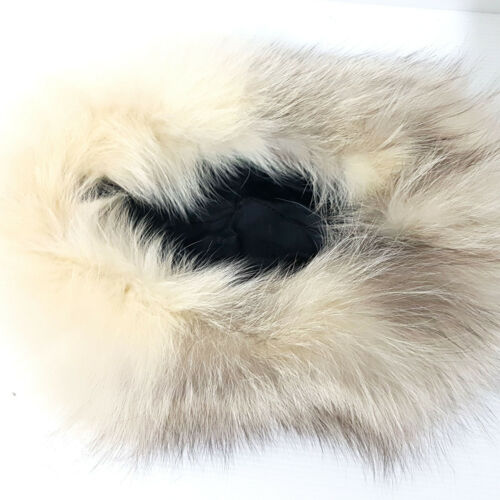 4 di 5 Cappello Pelliccia VOLPE Pelo Lungo TGL 54 bianco panna e castano  colbacco G157 6aff8bd34982