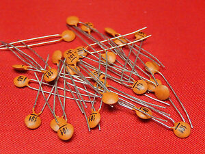 50x Ceramic Disc Capacitors NPO p=2.5mm CTC Multi-Variation Listings