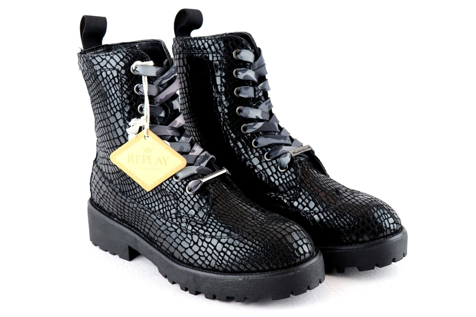 REPLAY COSY Boots Woman Black *** EXCLUSIVE STYLE ***