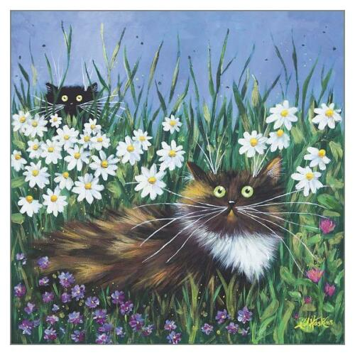 Kim Haskins Cat Greeting Card Tomcat Cards TCC-KH5594 FLOWER PROWLERS
