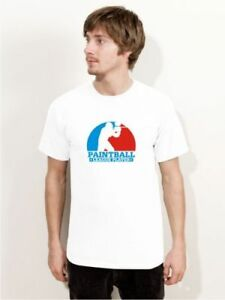 "Bigtime ""paintball League Player"" T-shirt Blanc Pb7-afficher Le Titre D'origine Produits De Qualité Selon La Qualité"
