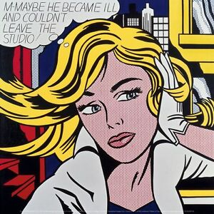 M-Maybe-a-Girl-039-s-Picture-1965-by-Roy-Lichtenstein-Art-Print-Pop-Poster-12x12