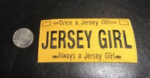 Large embroidered  Jersey Girl Patch #1 QUALITY!