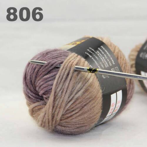 LOT of 3x50gr Skeins NEW Chunky Hand-woven Colors Knitting Scores wool yarn 806