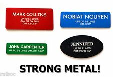 Metal Employee Personalized Name Tag Badge Custom Engraved With Magnet