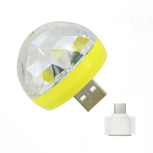 USB Mini LED RGB Disco Stage Light Party Club DJ KTV Xmas Magic Phone Ball Lamp