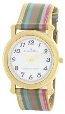 Anne Klein Womens White Dial Multi color Fabric Strap Quartz Watch 10/6840