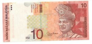 Malaysia RM10, 10th Series Without Silver Security UNC Paper Banknote