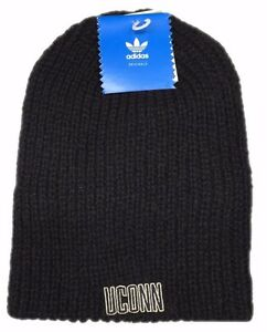 5e21eb7f3b7 Uconn Huskies NCAA Black Winter Fitted Knit adidas Skully Cap Beanie ...