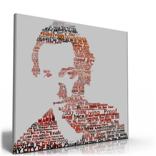 Bruce Springsteen Lyrics A1 Canvas print