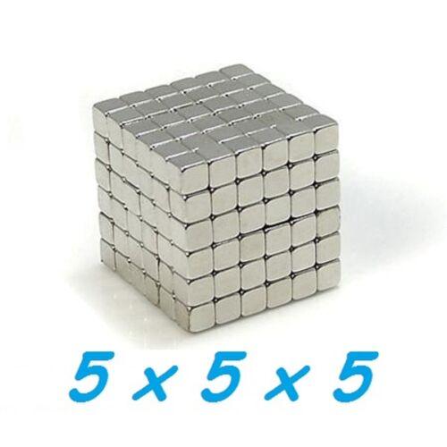 10 MAGNETI NEODIMIO 5X5X5 MM CALAMITA POTENTE FIMO CERAMICA MAGNETE CALAMITE