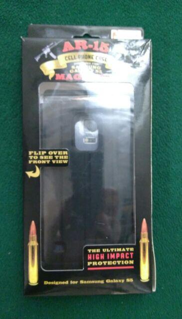 AR-15 Magazine Cell Phone Case for Samsung Galaxy S5 Black
