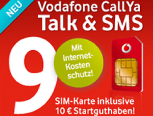 Vodafone-Prepaid-SimKarte-10-Guthaben-CallYa-Talk-amp-SMS-9cent-min-Startklar