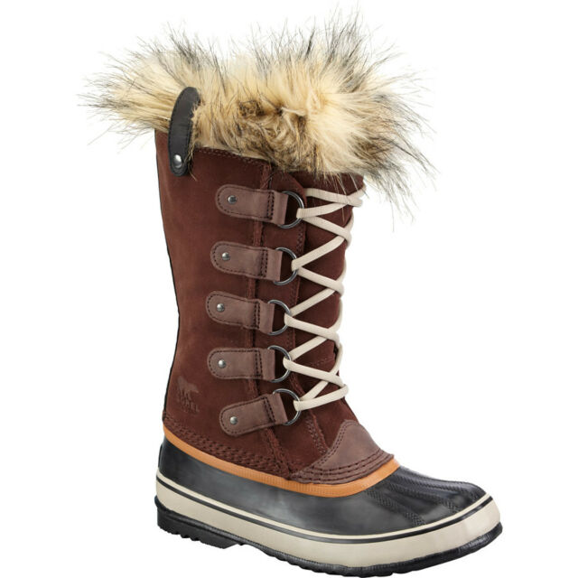 Sorel womens Joan of Arctic waterproof leather winter snow boots Brown