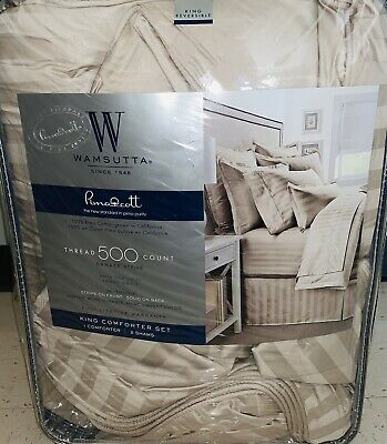 Wamsutta 500-Thread-Count PimaCott Sheet Set Size:King Taupe