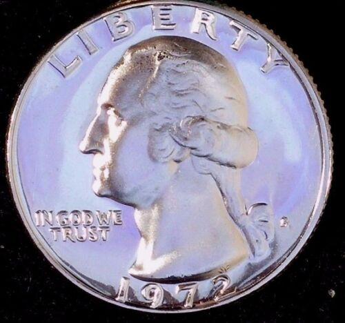 "/""50 Cents for Shipping/"" wc /""Gem Proof/"" CN-CLAD 1972-S 25C Washington Quarter"