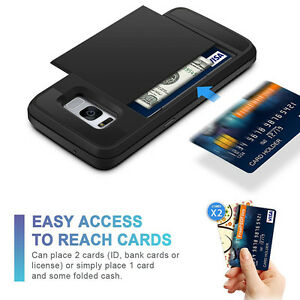 New-Hybrid-Shockproof-Slim-Wallet-Card-Case-Cover-for-Samsung-Galaxy-S8-S8-Plus