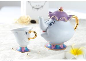 2018 Cartoon Beauty And The Beast Teapots Mug Mrs Potts Chip Tea