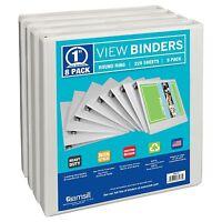 Samsill 8 Pack 3 Ring 225 Sheet Presentation View Binder 1 Inch Locking Ring