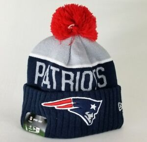 Authentic New England Patriots New Era NFL On Field Beanie Knit Hat ... 1be22b6f8