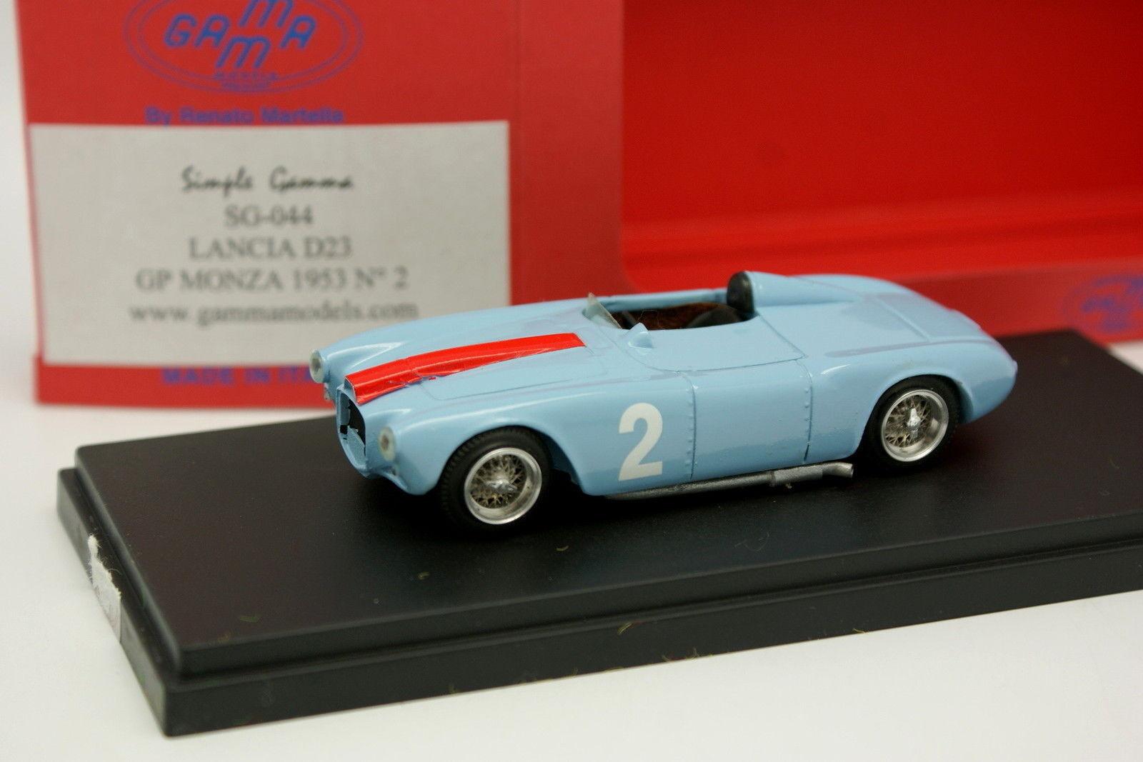 varios tamaños Gamma 1 43 - - - Lancia D23 Monza GP 1953 n°2  nueva marca