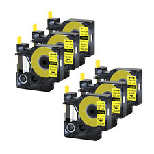 6pk For Dymo Rhino 42005200 Heat Shrink Tube 18056 Industry Label Tape 12x5