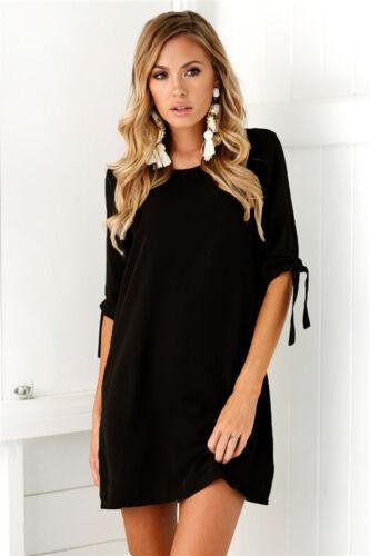 Plus Size 6-20 UK Womens Long Tops Blouse Ladies Summer Holiday Mini Shirt Dress