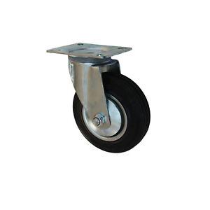 100 mm Vollgummirolle als Lenkrolle Transportrolle  TK 70 kg